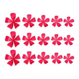 Lot de 15 stickers 3D jasmin roses