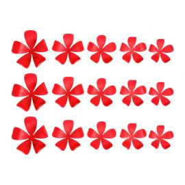 Lot de 15 stickers 3D jasmin rouges