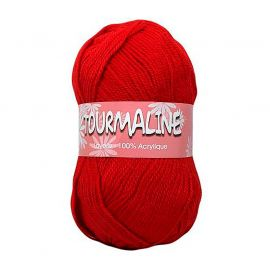 Lot de 2 pelotes de laine TOURMALINE rouges 50g