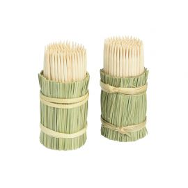 Lot de 2 pots de cure-dents 150 pièces