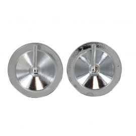 Lot de 2 supports adhésifs chrome D 30mm