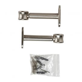 Lot de 2 supports simples argent mat D 20mm