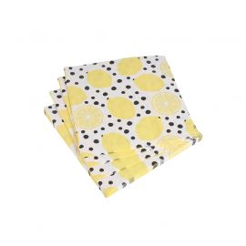 Lot de 20 serviettes papier citron 33x33cm