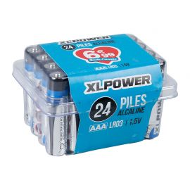 Lot de 24 piles LR03 alcaline XLPOWER