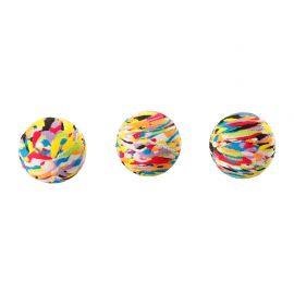 Lot de 3 balles multicolores D 3cm