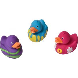Lot de 3 canards jouets de bain multicolores