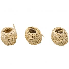 Lot de 3 ficelles sisal D 2mm x 15m