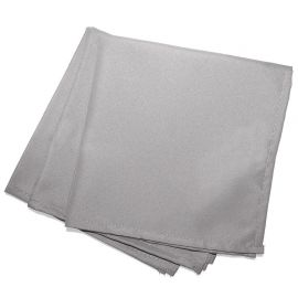 Lot de 3 serviettes de table unies grises 40x40cm