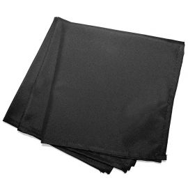 Lot de 3 serviettes de table unies noires 40x40cm
