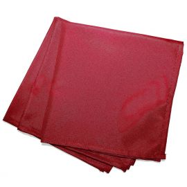 Lot de 3 serviettes de table unies rouges 40x40cm