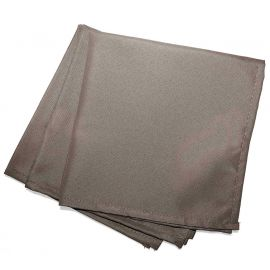 Lot de 3 serviettes de table unies taupes 40x40cm