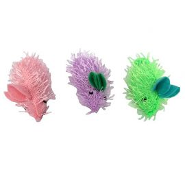 Lot de 3 souris multicolores pour chat