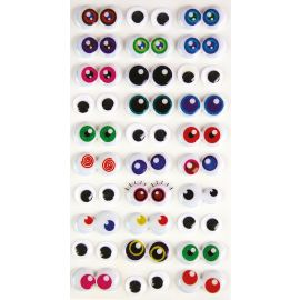 Lot de 30 stickers yeux mobiles 3D