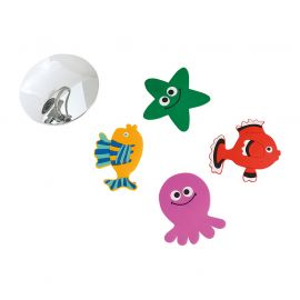 Lot de 4 animaux marins fond de douche