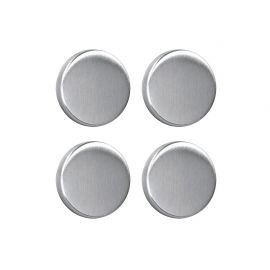 Lot de 4 magnets ronds inox D 3cm