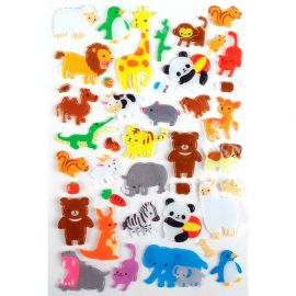 Lot de 41 stickers translucides animaux