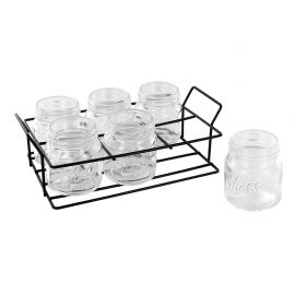 Lot de 6 shooters avec support métal 21x6.2x11.8cm