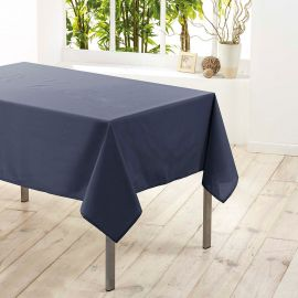 Nappe de table rectangle polyester uni béton 140x250cm