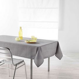 Nappe rectangulaire CHAMBRAY polyester gris 140x250cm