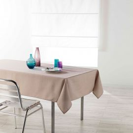 Nappe rectangulaire CHAMBRAY polyester lin 140x250cm