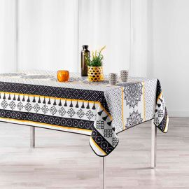 Nappe rectangulaire polyester Meridian blanc 150x240cm