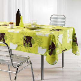 Nappe rectangulaire polyester nénuphar anis 150x240cm