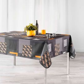 Nappe rectangulaire polyester Opsis gris 150x240cm