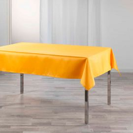 Nappe rectangulaire shantung moutarde 150x240cm
