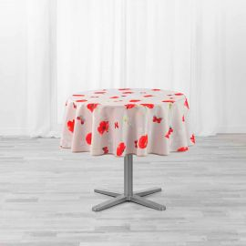 Nappe ronde polyester Sweet Poppy D 180cm