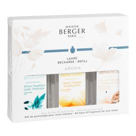 Pack de 3 recharges Lampe Berger Aroma 180ml