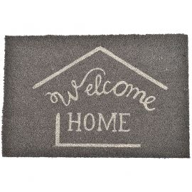 "Paillasson coco ""Welcome"" gris 40x60cm"