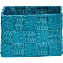 Panier polyester turquoise 13x9x13cm