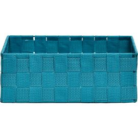 Panier polyester turquoise 28x10x28cm