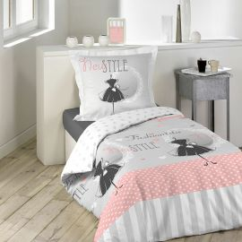 parure housse de couette 1 personne coton danseuse 140x200cm. Black Bedroom Furniture Sets. Home Design Ideas