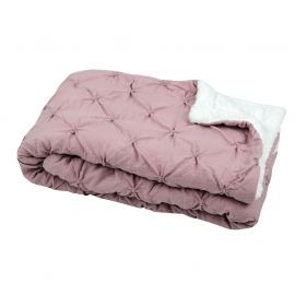 Plaid moelleux polyester rose 130x160cm