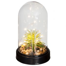 Plante artificielle LED cloche H 23cm