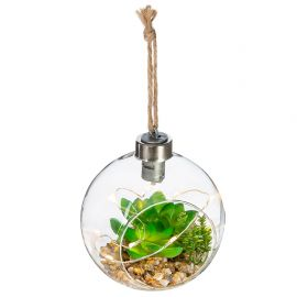 Plante artificielle LED verre D 10cm