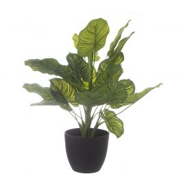 Plante verte artificielle pot H 45cm