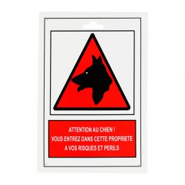 Plaque attention au chien 25x17cm