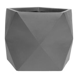 Pot POLYGONE anthracite 55x55x44cm