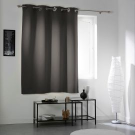 Rideau œillets occultant COCOON anthracite 140x180cm