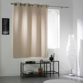 Rideau œillets occultant COCOON beige 140x180cm