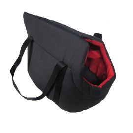 Sac de transport PAOLA rouge noir 25x30x40cm