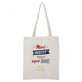 "Sac tote bag ""Merci Instit"" 36x42cm"