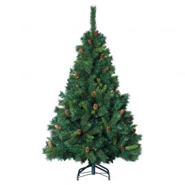 Sapin de noël artificiel vert royal majestic pommes de pin 150cm