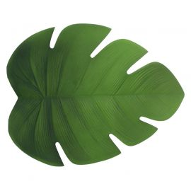 Set de table forme feuille vert 38x47cm