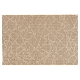 Set de table rectangulaire en toile motif craquelé bronze 30x45cm