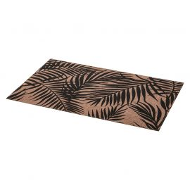 Set de table rectangulaire PALME noir 45x30cm