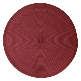 Set de table rond tressé bordeaux D 38cm