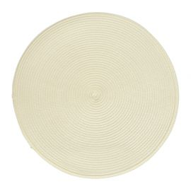 Set de table tressé rond blanc D 38cm